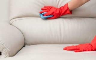 Чистка кожаного дивана белого из экокожи дома