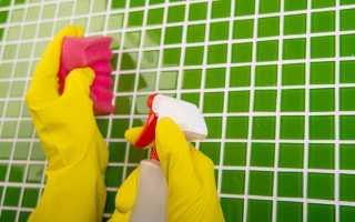 Чем отмыть кафель в ванной от известкового налета