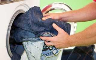 При какой температуре стирать джинсы, как высушить