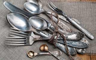 Как и чем почистить мельхиоровые ложки в домашних условиях