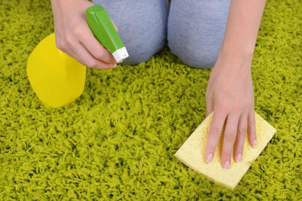 Удалить запах мочи с ковра