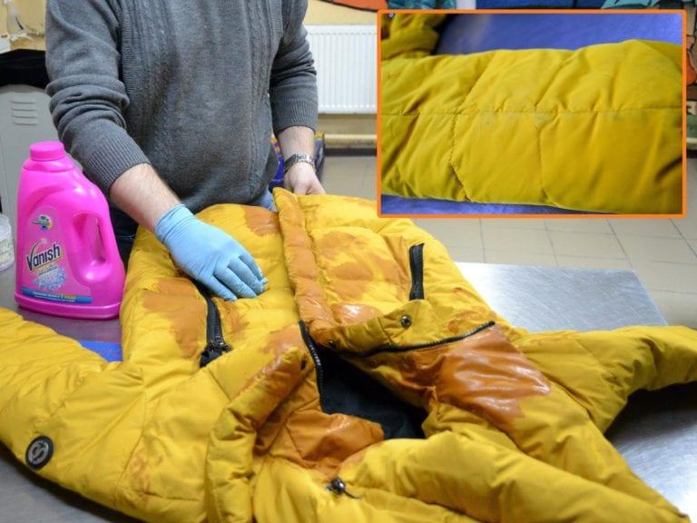 Детальная чистка куртки