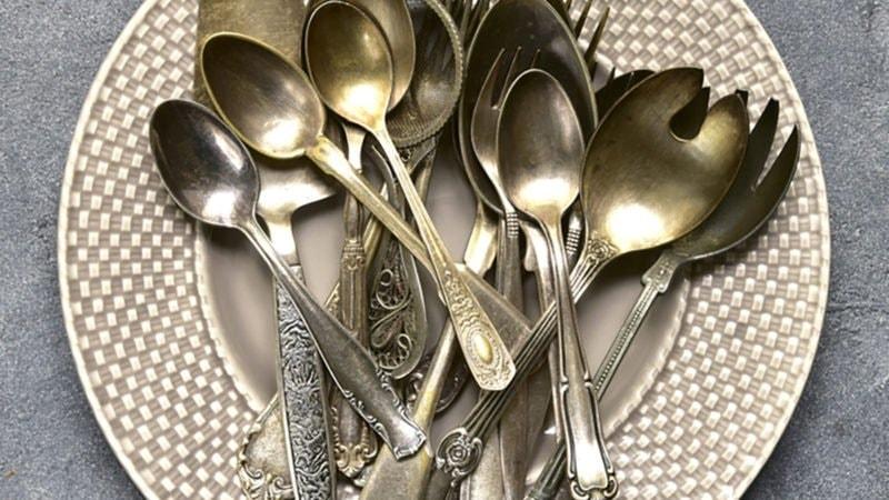 Чистка серебряных приборов