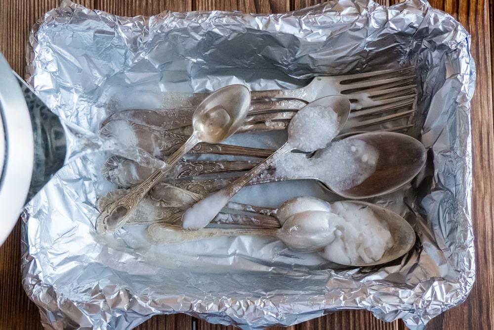 Фольга и соль для мельхиора