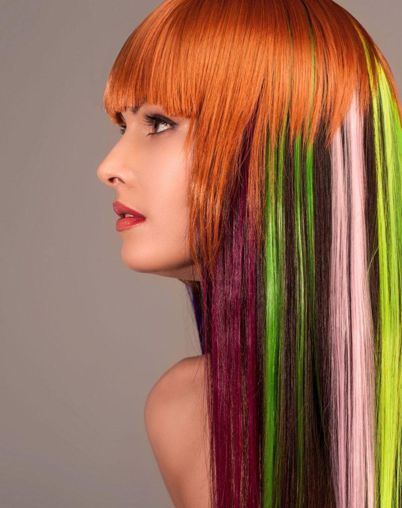 Смыть краску с волос