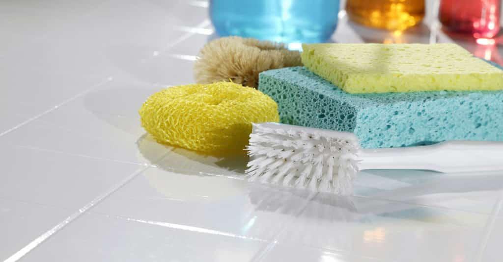 Отмыть плитку ношатырем