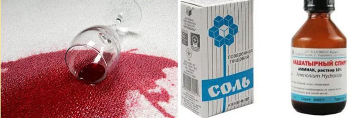 Выведение пятна от красного вина