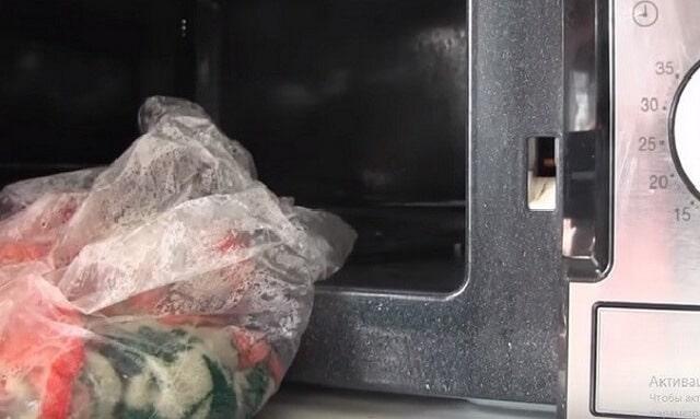 Стирка кухонныех полотенец в микроволновке