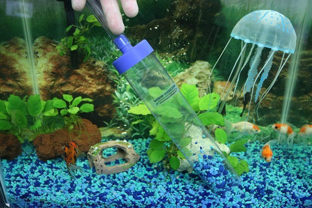 Почистить песок в аквариуме