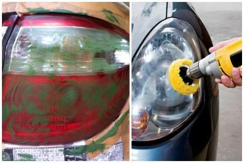 Полировка автомобиля и фар