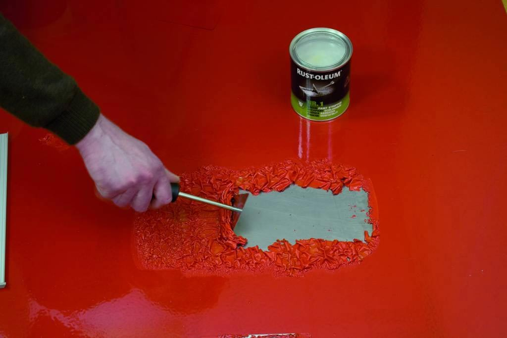 Очистить металл от краски